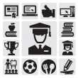 Education icons — Stock Vector #12752130