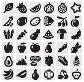 Conjunto de frutas e legumes — Vetorial Stock