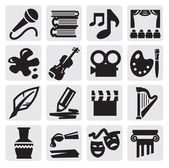 Arts icon set — Stock Vector