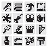 Kunsten pictogrammenset — Stockvector