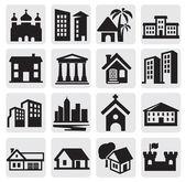ícones de hous — Vetorial Stock