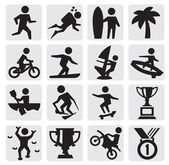 Extreme sporten pictogram — Stockvector