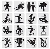 Ikony sporty ekstremalne — Wektor stockowy
