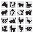Stock Vector: Farm animals