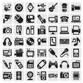 Dispositivos electrónicos — Vector de stock
