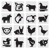 Farm animals — Stockvector
