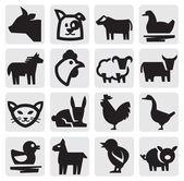 農場の動物 — ストックベクタ