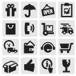 Shipping icons — Stock Vector #12872396