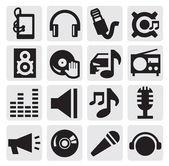 значки музыки — Cтоковый вектор