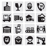 Iconos de envío — Vector de stock