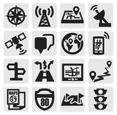 Iconos de navegación — Vector de stock