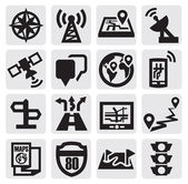 Navigation icons — Vector de stock