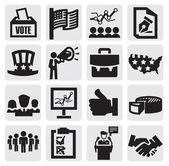Election icons — Vecteur