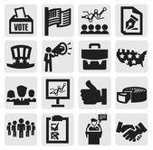Icônes de l'élection — Vecteur