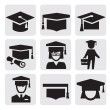 Education icons — Stock Vector #13268061