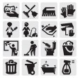 rengöring ikoner — Stockvektor