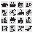 Stock Vector: Reporter icons