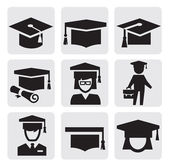 Education icons — Vettoriale Stock