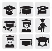 Utbildning ikoner — Stockvektor