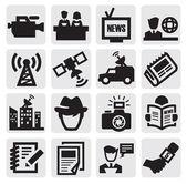 Verslaggever pictogrammen — Stockvector