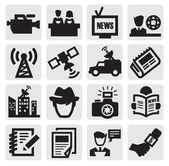 Reporter icons — Stock Vector