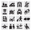 Airport icons — Stock Vector #13365968