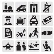 Airport icons - Stock Vector