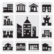 casas iconos — Vector de stock  #13365969