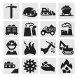 Coal icon - Stock Vector