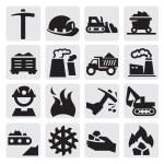 Coal icon — Stock Vector