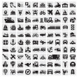 Big transportation icons — Stock Vector #13368931