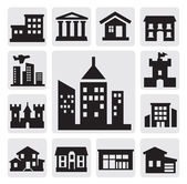 Houses icons — Vettoriale Stock