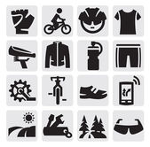 Biking icon — Stock Vector