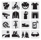 Biking icon — Stock Vector