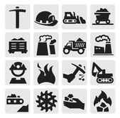 Icône de charbon — Vecteur
