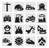 Icona di carbone — Vettoriale Stock