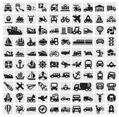 Velké dopravní ikony — Stock vektor