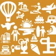 Stock Vector: Vacation icons