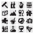 Wine icons — Stock Vector #13403080