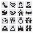 wedding icons — Stock Vector