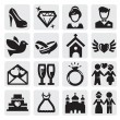 iconos de boda — Vector de stock