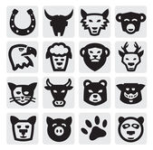 Animals set — Vector de stock