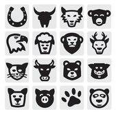 Tiere festgelegt — Stockvektor