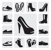 Kadın ve erkek çizmeler — Stok Vektör