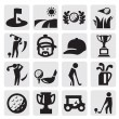 Golf Icons — Stock Vector