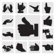 Royalty-Free Stock Vector Image: Hands icon