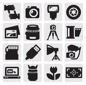 Icono de cámara — Vector de stock