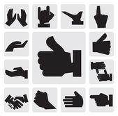 Icône de mains — Vecteur