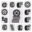 Tire icons — Vettoriale Stock #13518217