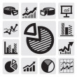 Business chart icons — Stock Vector #13518246